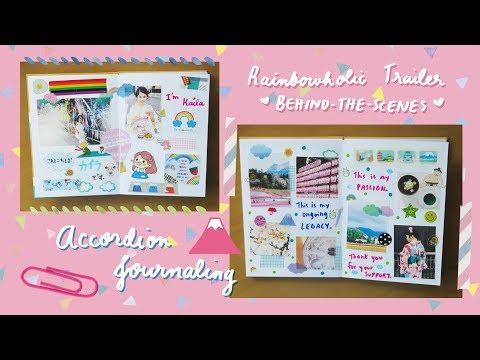 Japanese Accordion Notebook Creative Journaling #01 🗻
