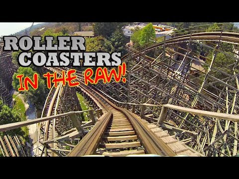 Medusa Roller Coasters in the RAW! Pre-RMC Wooden Version! Six Flags Mexico POV Onride