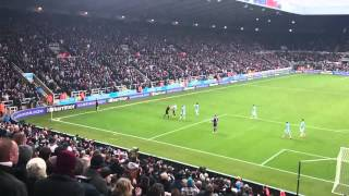 Newcastle v Man City. Tiote's Disallowed Goal 12/01/14