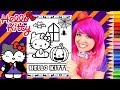 Coloring Hello Kitty Halloween Monster Coloring Page Prismacolor Pencils | KiMMi THE CLOWN