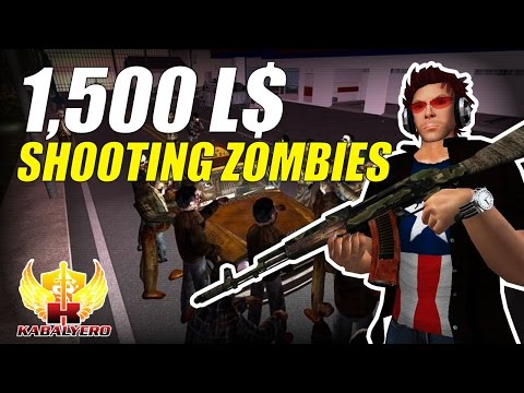 1,500 Linden Dollars For Shooting Zombies ★ How To Earn Linden Dollars ★ Second Life Destination