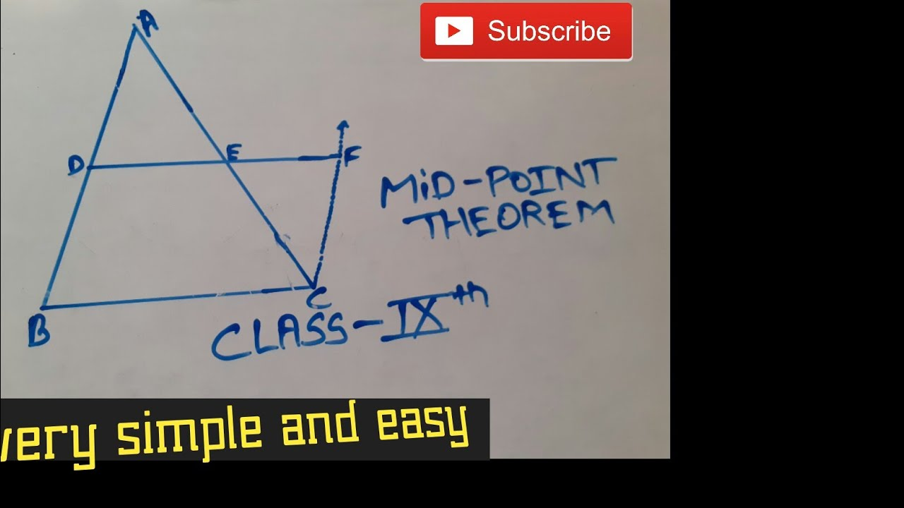 MID POINT THEOREM CLASS 9th cbse /quadrilateral /??? - YouTube