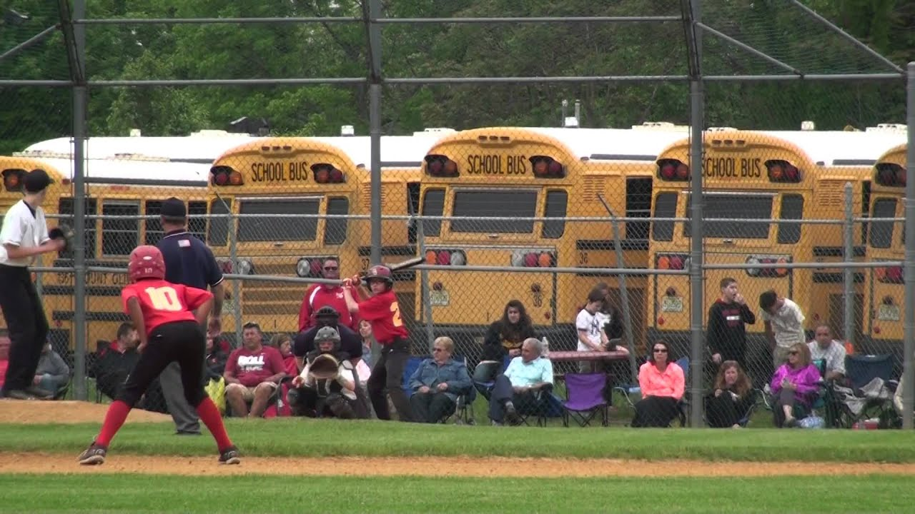 2014 Mt Olive Middle School vs Parsippany Brooklawn Middle School Baseball  05 29 2014