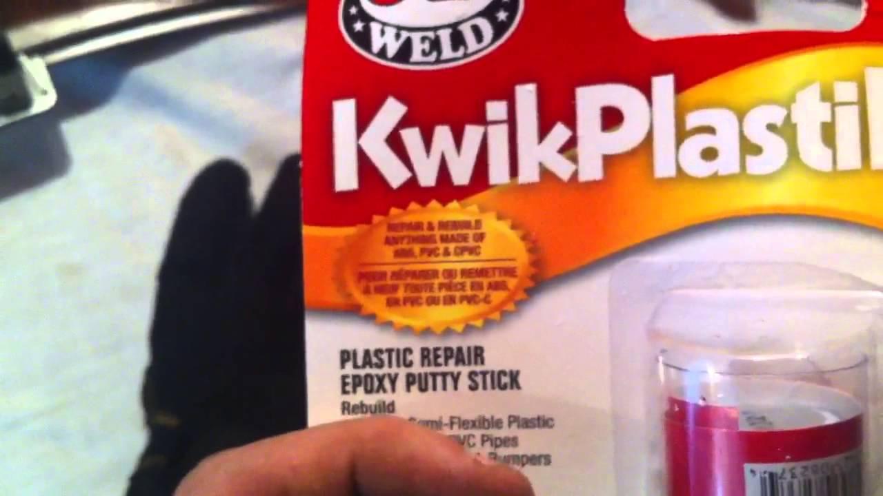 Front Bumper Repair >> JB Weld Kwik Plastik bumper repair 1/3 - YouTube