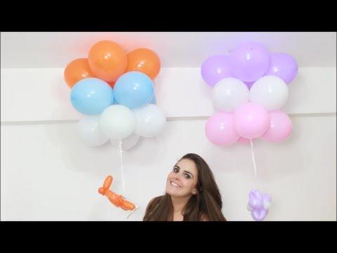 Decoração De Balões Com Pingentes Enfeite De Teto Passo A Passo