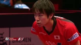 ドイツOP 男子シングルス2回戦 丹羽孝希vsM.カールソン 第3ゲーム thumbnail