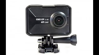 распаковка экшн камеры обзор камеры dexp s-80 настройки и управления