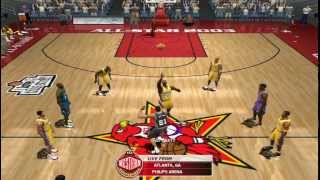 NBA Live 2003 Gameplay: Lakers VS Western All Stars