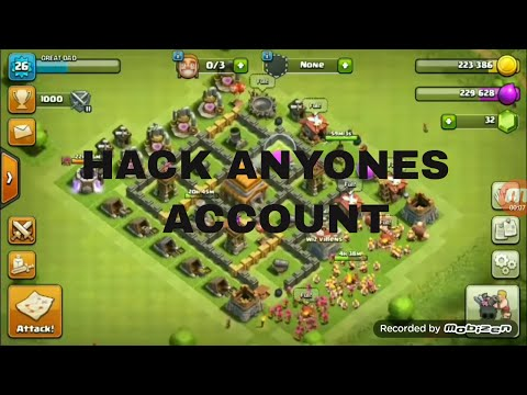 How to hack clash of clans account 2017