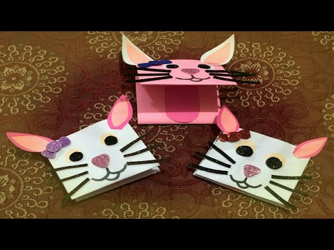 HOW to Make a Cute Paper Hand Cat Puppet | Craft for Kids; DIY Paper Craft