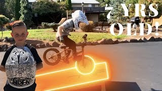 End of 7!! Caiden's Freestyle BMX Riding Progression!