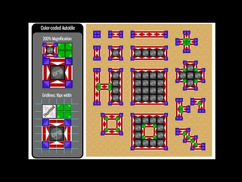 How to Create Autotiles #1 - Color-coded Anatomy - RPG Maker VX Ace Tutorial