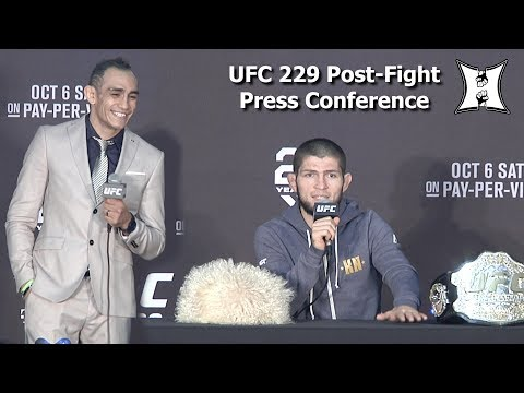UFC 229: Khabib Nurmagomedov vs Conor McGregor Post Fight Press Conference (LIVE! / HD)