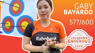 Gaby Bayardo shoots 577/600 for qualification | Lockdown Knockout