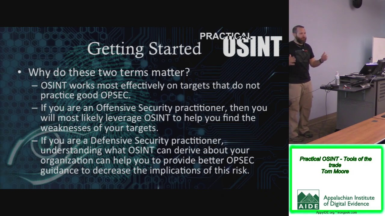 Download AIDE 2018 Practical OSINT Tools of the trade Tom Moore