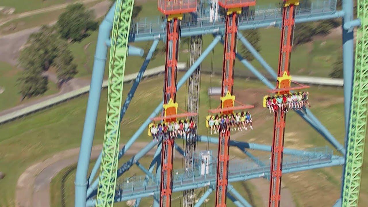 Zumanjaro: Drop of Doom ridercam & off-ride HD b-roll ...