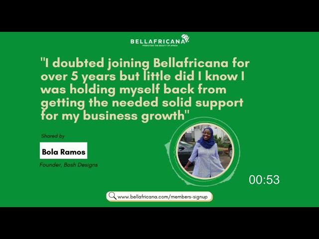 Bellafricana Testimonial: Bola Ramos