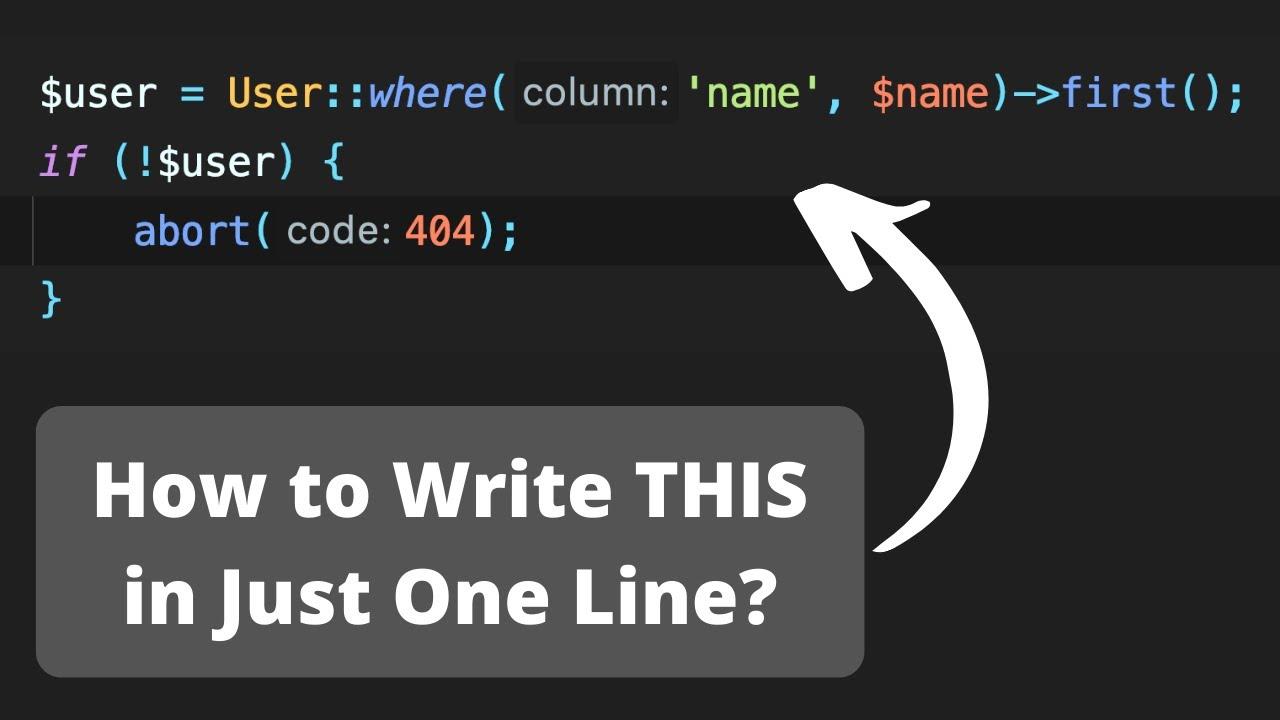 24 Laravel One-Liners to Make Code Shorter