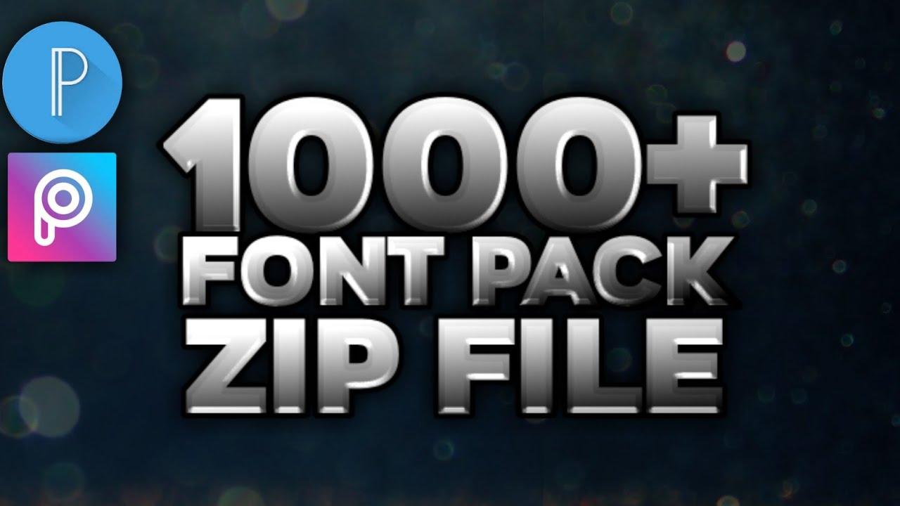 Download 1000+ Font Pack Zip File ||🔥Pixellab And Picsart || ADNANZ ...