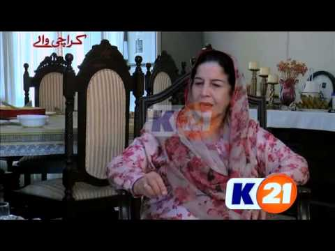 Mrs  Mumtaz Qureshi on Karachi Walay K21 News February 07 2016