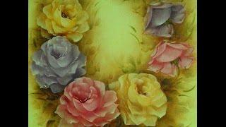 Pintar Rosas – Aula com desenhos – Shirley Sbeghen