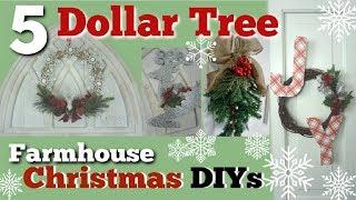 Dollar Tree Christmas DIY Farmhouse Decor   5 Christmas Decor Ideas   Momma From Scratch