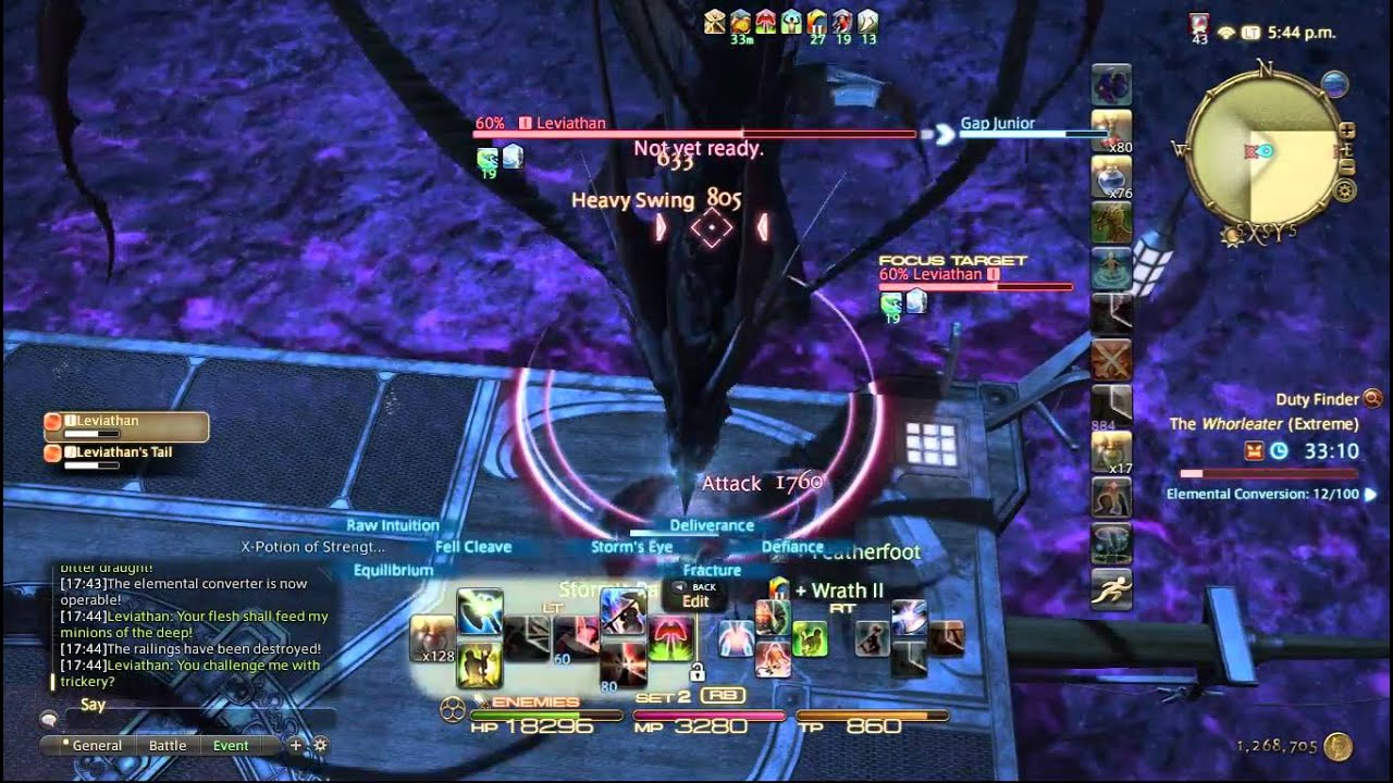 FFXIV Leviathan Extreme WAR solo