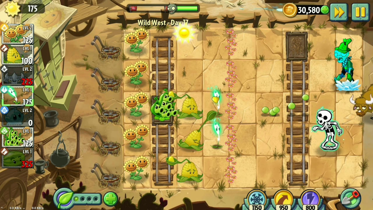 bos plant vs zombies 2 pvz 2 day 17