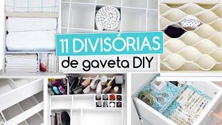 Como Fazer Divisórias na Gaveta – Organização