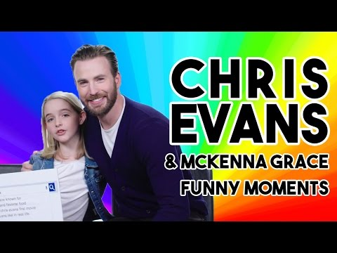CHRIS EVANS & MCKENNA GRACE FUNNY MOMENTS GIFTED s