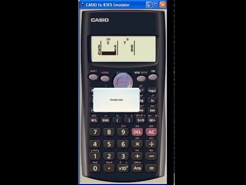 Pearson's correlation coefficient using a Casio Calculator