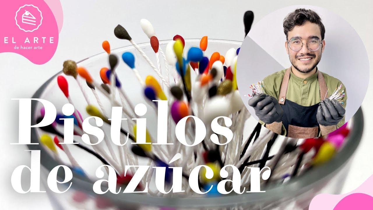 Pistilos de azúcar para flores comestibles - El arte de hacer arte