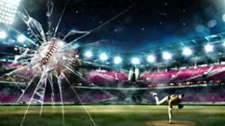 Бейсбол Замедленная съемка. slow motion baseball.