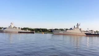 2017.7.27(木)6:56 アストラハン ロシア海軍カスピ小艦隊