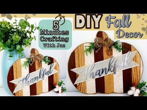 5 MINUTES CRAFTING No. 9   DOLLAR TREE DIY   FARMHOUSE FALL DECOR