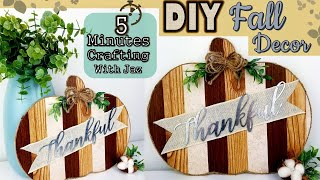 5 MINUTES CRAFTING No. 9 | DOLLAR TREE DIY | FARMHOUSE FALL DECOR