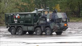 ILÜ 2019- Logistik Konvoi mit Puma und Marder Schutz