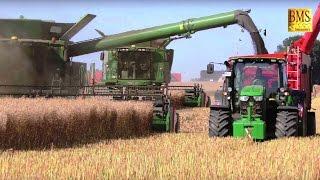 Rapsernte John Deere Mähdrescher S685i TT/S680i- rape harvesting largest biggest combine harvester