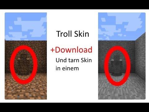 Minecraft TrollTarn Skin Erde Und Stein YouTube - Skins para minecraft pe de rock