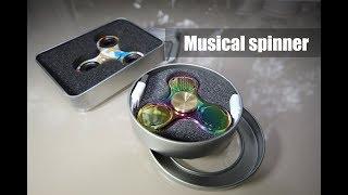 музыкальный спиннер. Bluetooth колонка с Aliexpress! Musical spinner unpacking!