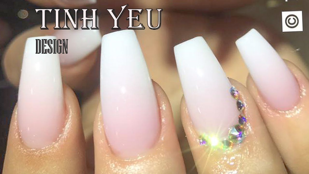 alex nail art desgn/nail technician-TINH YEU/HOW TO MAKE OMBRE PINK ...