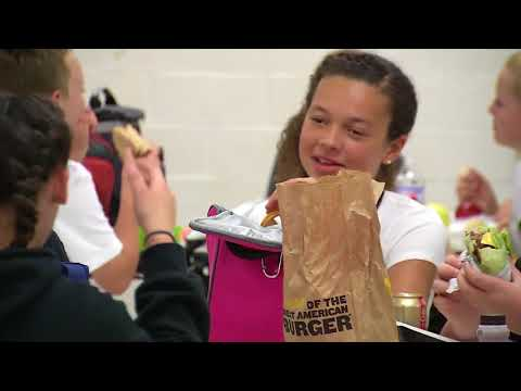 South Charleston Middle School students assigned seats at lunch for a cause