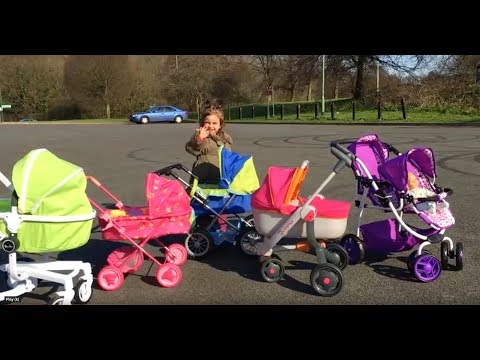 Playing with Baby Doll Prams  / Walking / Pushchairs