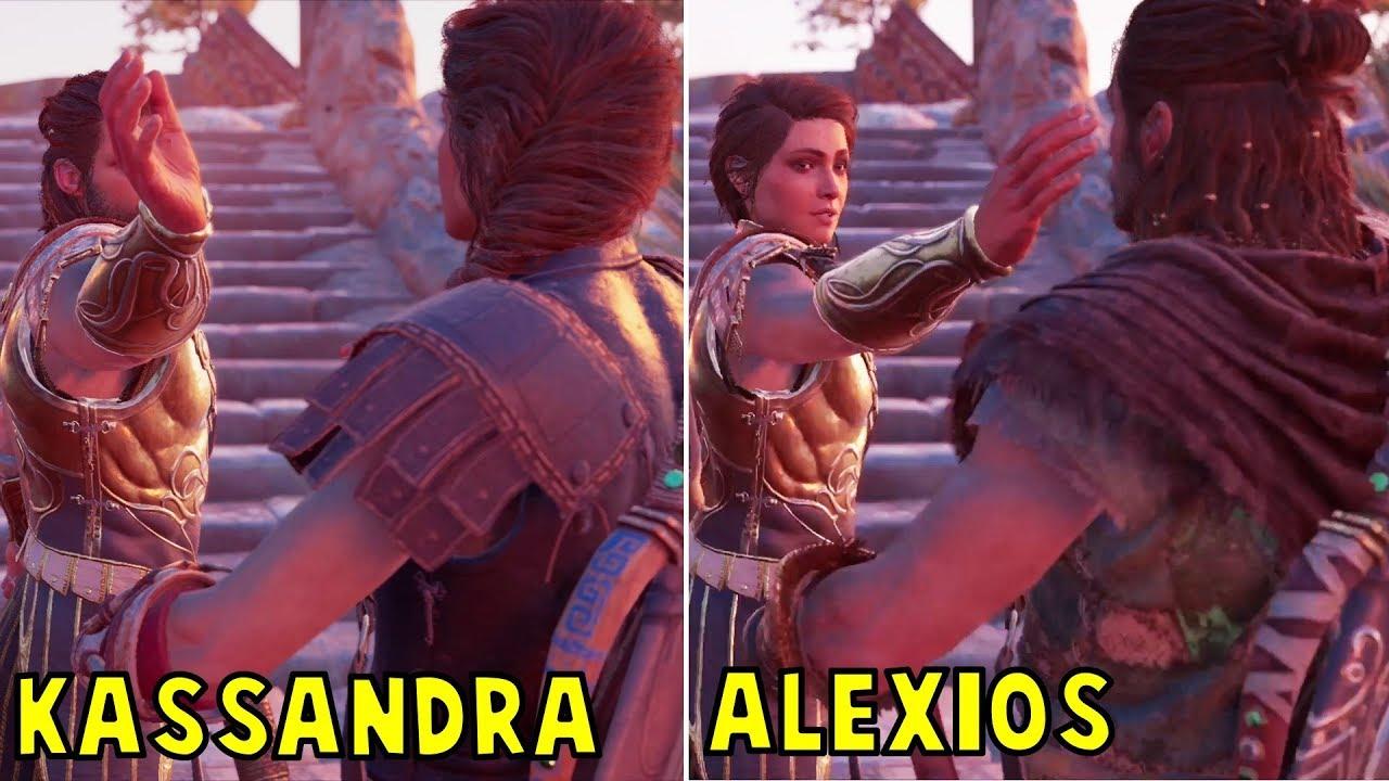 Kassandra Slaps Alexios Vs Alexios Slaps Kassandra Both Scenarios