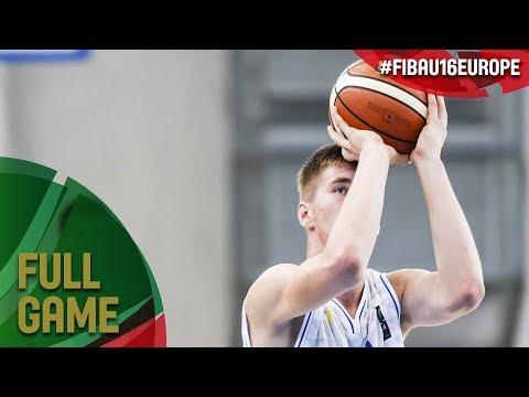 Bosnia and Herzegovina v Slovak Republic - Full Game - FIBA U16 European Championship 2017 - DIV B