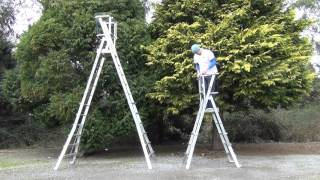 Aluminium Adjustable Podium Step Ladder | Stradbally Ladders