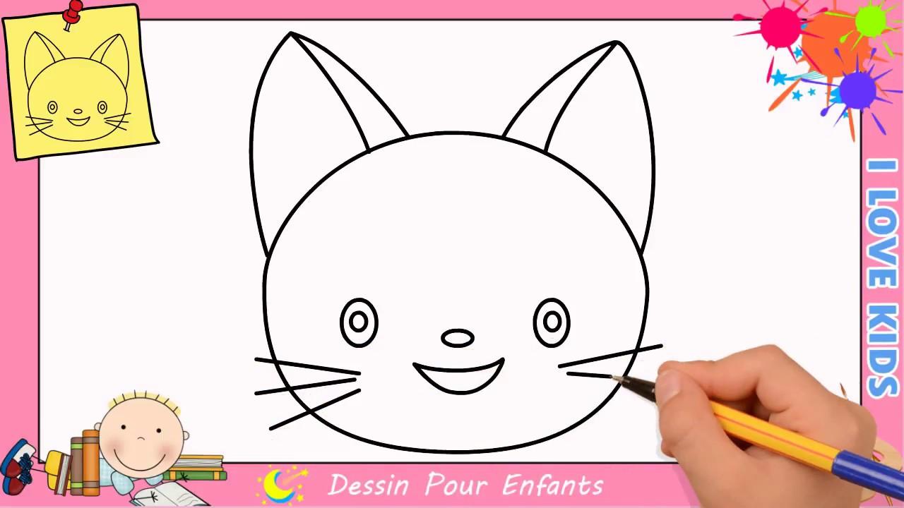Comment Dessiner Un Chat Facilement Etape Par Etape Pour Enfants 8 Youtube