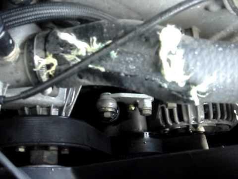 98 E38 740i upper radiator hose busted on the freeway