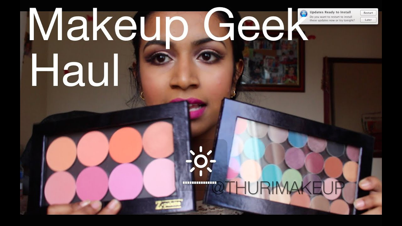 Huge Makeup Geek Haul! Eyeshadow & Blushes (Shipping to the UK and Customs) | Thuri Makeup