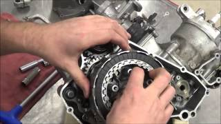 2 Stroke Engine Assembly: How to install the clutch